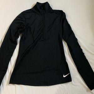 Nike black zip up sweater